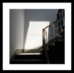 sunlight on stairs